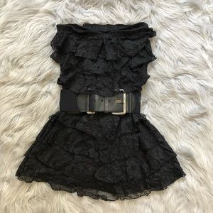Express Lace Looking Strapless Dress